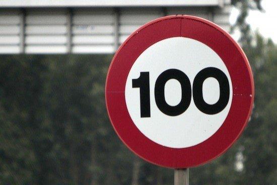 Señal 100 km/h