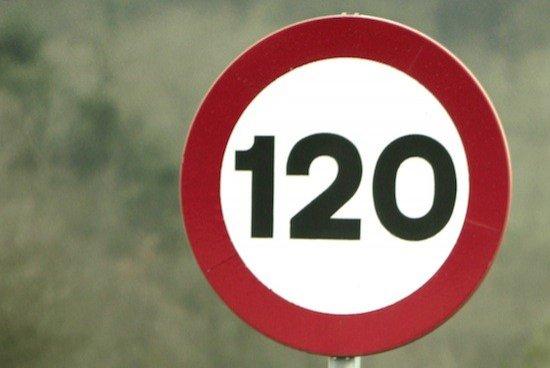 Señal 120 km/h