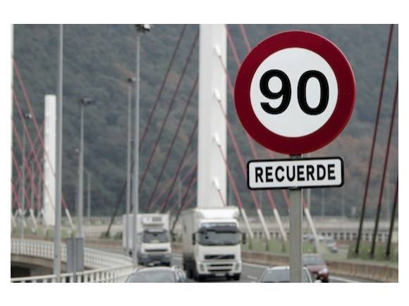 Nuevos límites de velocidad: 90 km/h en carreteras secundarias