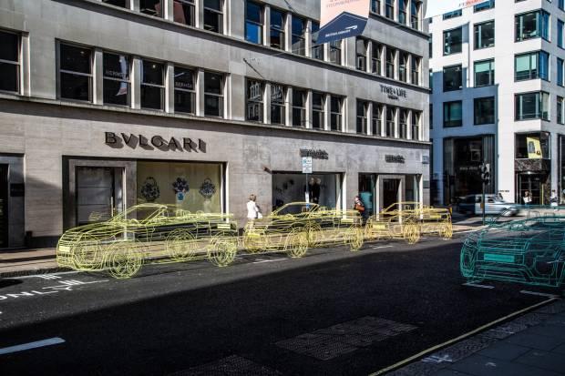 Land Rover llena Londres de Evoque Cabrio