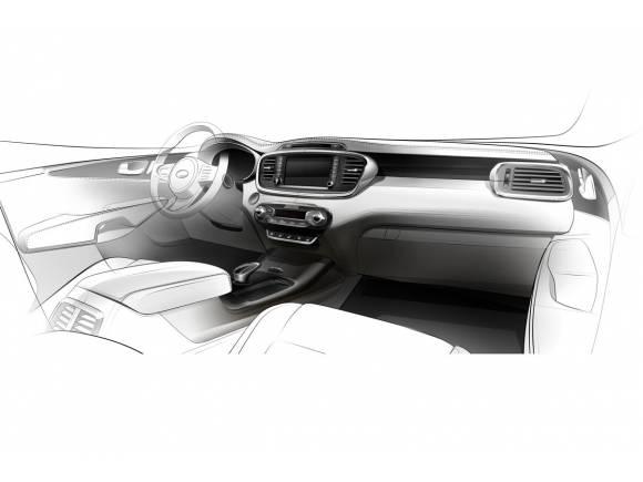 Primera imagen del interior del nuevo Kia Sorento