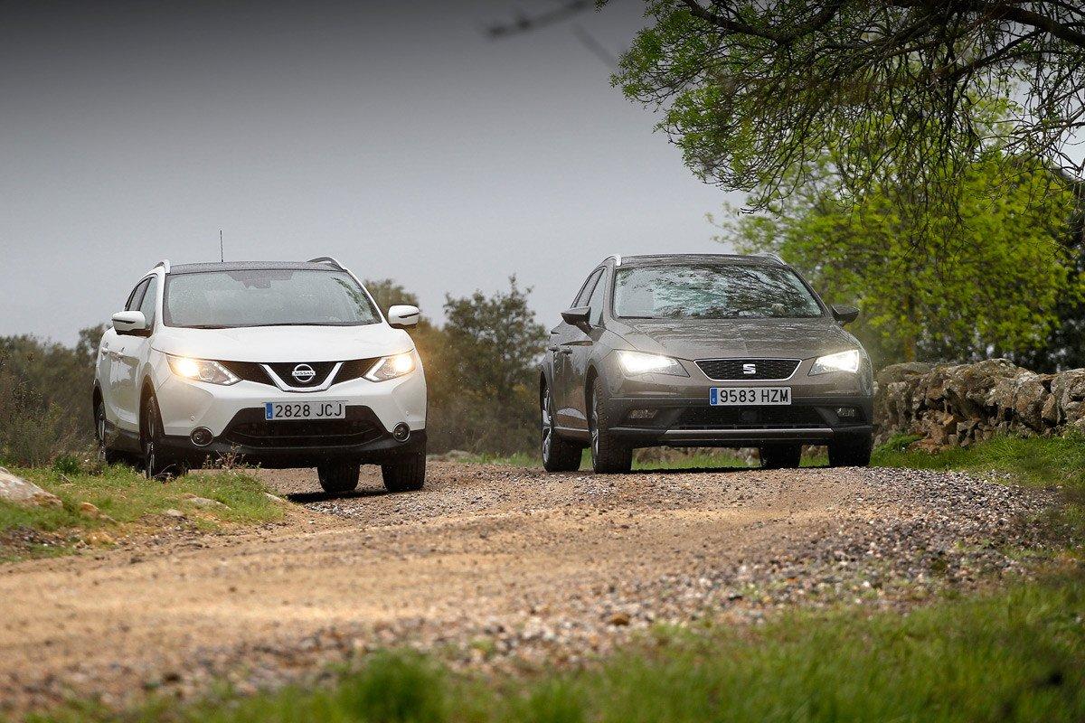 Nissan Qashqai Seat Leon X-perience