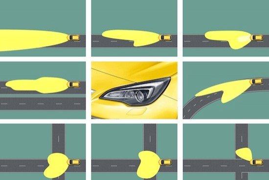 El sistema de faros bixénon AFL se adapta a la velocidad y dirección de las curvas.