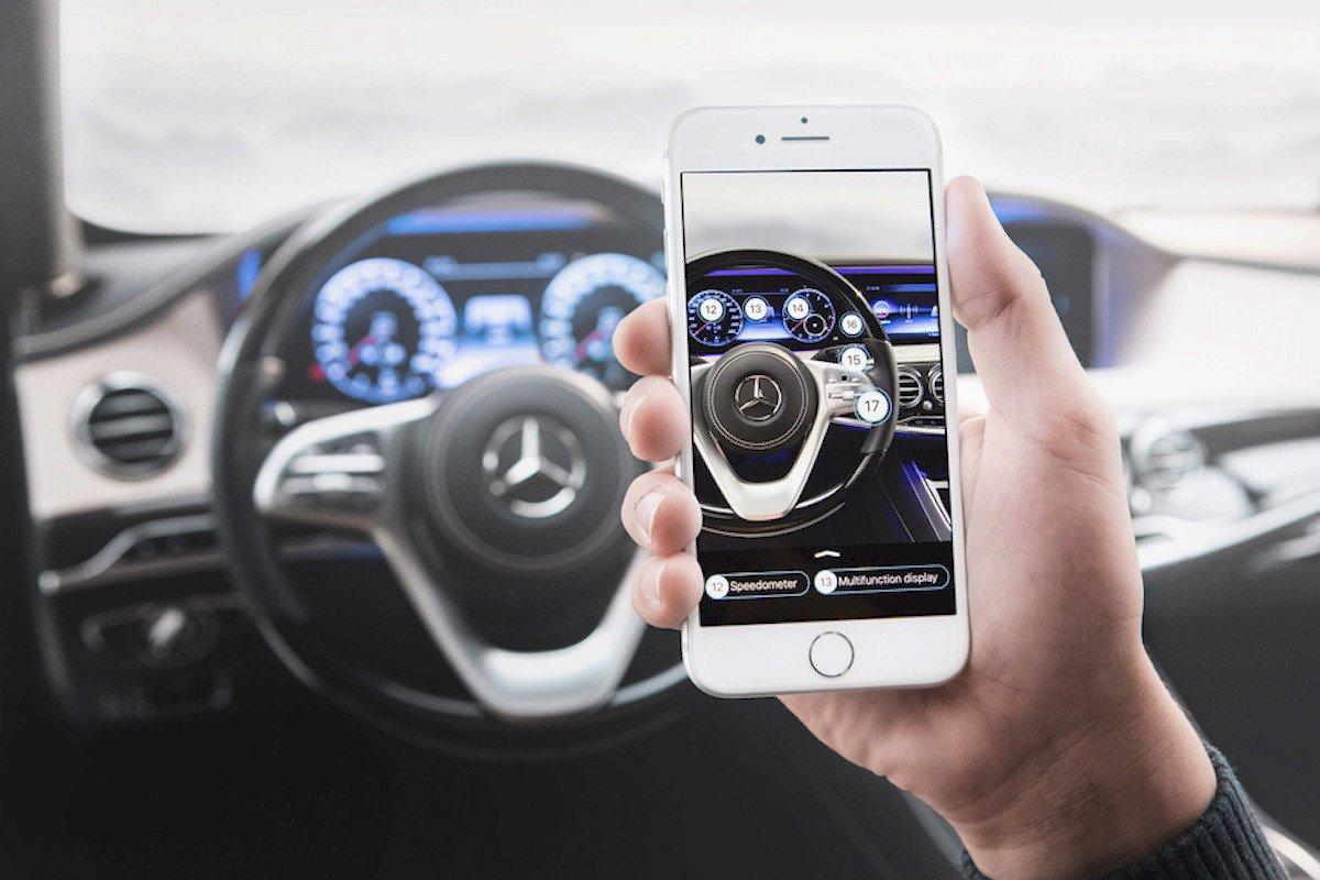 Mercedes realidad aumentada