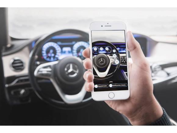 Nuevo manual del coche de Mercedes de realidad aumentada