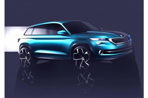 Skoda presenta en Ginebra el VisionS, su futuro SUV de 7 plazas