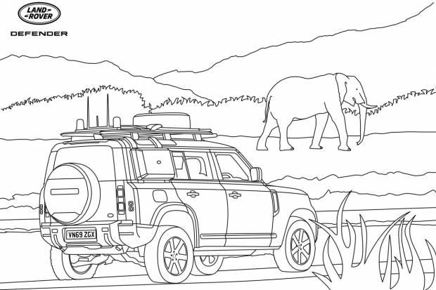 Dibujos de coches Land Rover para entretener a los niños