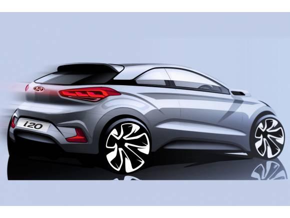 Primer boceto del Hyundai i20 Coupé
