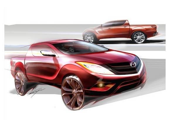 Primeros bocetos del nuevo pickup Mazda BT-50