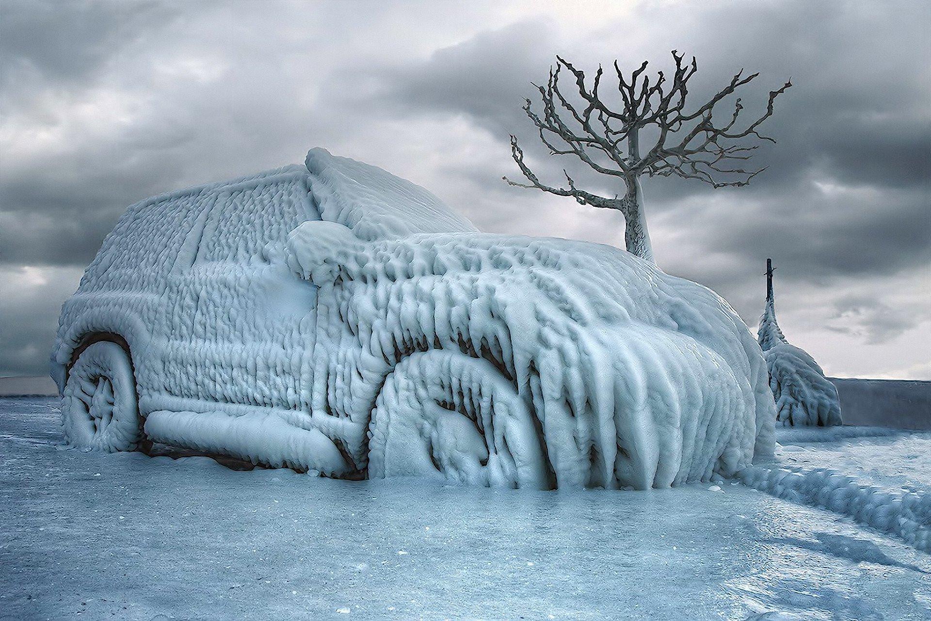 coche helado