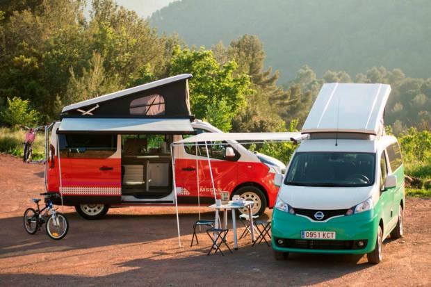 Nissan lanza las versiones camper del NV200, e-NV200 y NV300