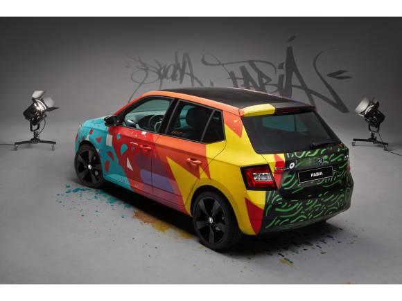 """El Skoda Fabia se convierte en un """"Art Car"""""""