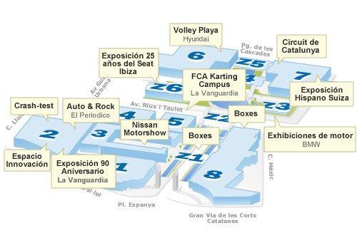 Plano de actividades del Salón de Barcelona