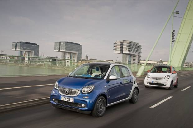 Smart fortwo y forfour, con cambio automático de doble embrague