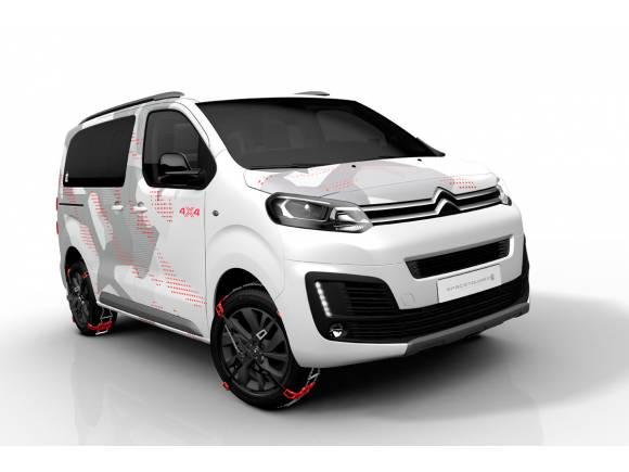 Citroën SpaceTourer 4x4 Ë Concept, mostrando las capacidades off-road