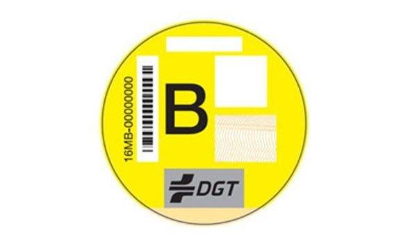 Pegatina DGT