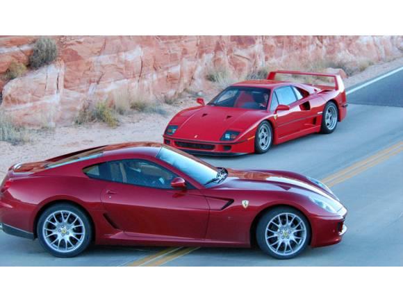 Ferrari 599 GTB Fiorano VS Ferrari F40, duelo de titanes
