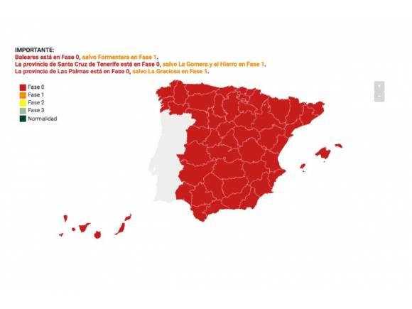 Mapa coronavirus: uso del coche y ocupación en la desescalada